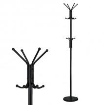 Stojanový vešiak - SV 08, 180 cm (čierna, kov)