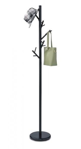 Stojanový vešiak - SV 10, 170 cm (čierna, kov)