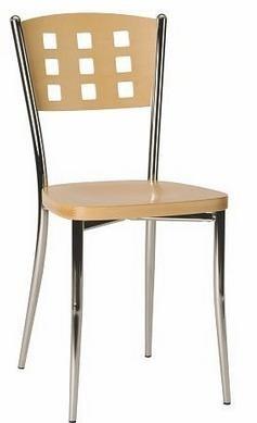 Stolička Agave - Jedálenská stolička (biela/chrom)