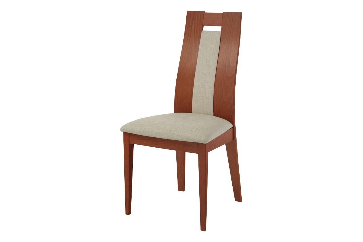 Stolička ALBI(buk, morenie orech,poťah krémový)