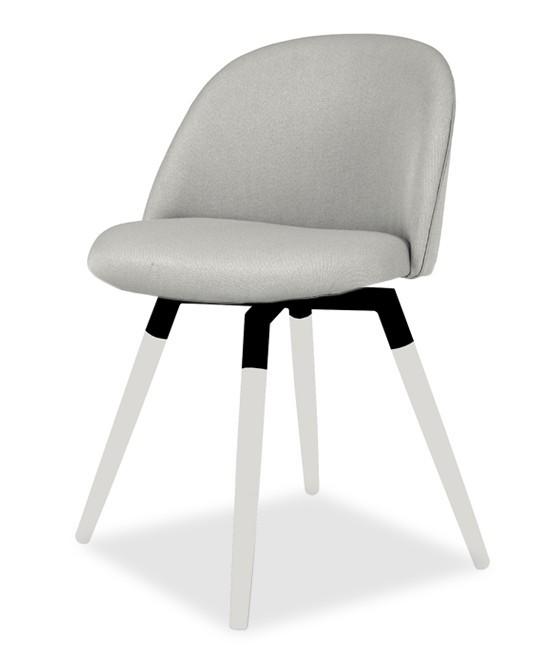 Stolička ALLY 9368-207+FIDO 9315-101 (sv.šedá,biela,čierna)
