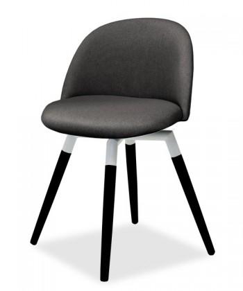Stolička ALLY 9368-215+FIDO 9315-424 (antracit,biela,čierna)