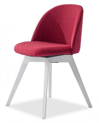 Stolička ALLY 9368-228+BESS 9347-001 (červená,biela)
