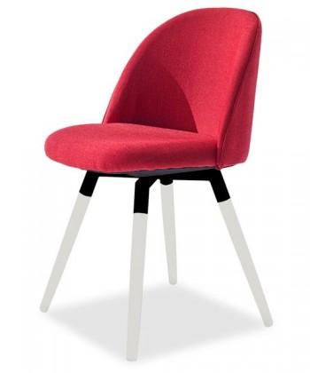 Stolička ALLY 9368-228+FIDO 9315-101 (červená,biela,čierna)