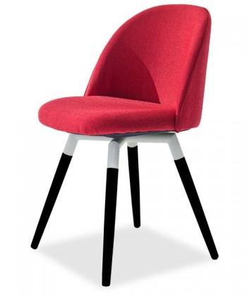 Stolička ALLY 9368-228+FIDO 9315-424 (červená,biela,čierna)