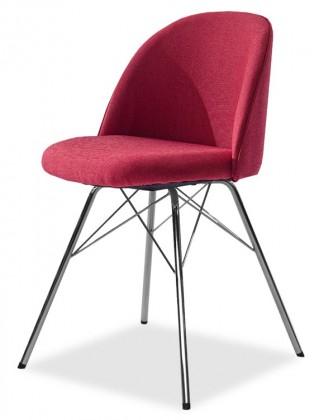 Stolička ALLY 9368-228+PORGY 9346-091 (červená,chróm)