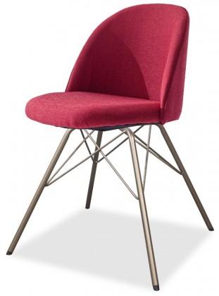 Stolička ALLY 9368-228+PORGY 9346-888 (červená,bronz)