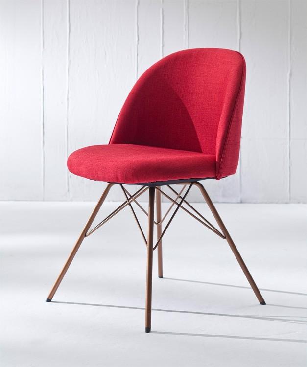 Stolička ALLY 9368-228+PORGY 9346-889 (červená,meď)