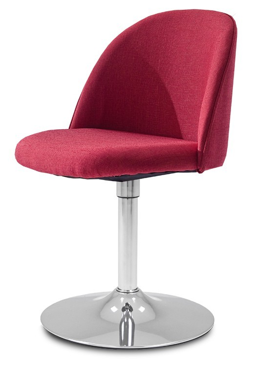 Stolička ALLY 9368-228+TRUMPET 9341-091 (červená,chróm)