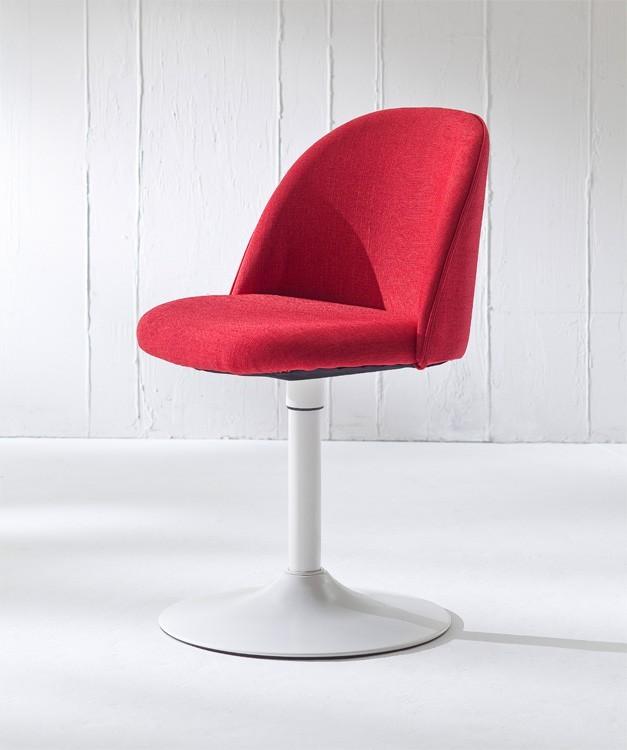 Stolička ALLY 9368-228+TRUMPET 9341-801 (červená,biela)