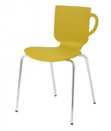 Stolička Amy(kari, plast/chróm)