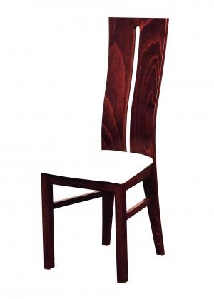 Stolička Andre I - jedálenská stolička (drevo - sołtysiak/poťah - syntetická koža)