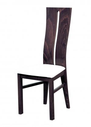 Stolička Andre I - jedálenská stolička (drevo - tmavý orech/poťah - syntetická koža)