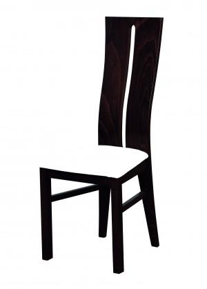 Stolička Andre I - jedálenská stolička (drevo - wenge/poťah - syntetická koža)