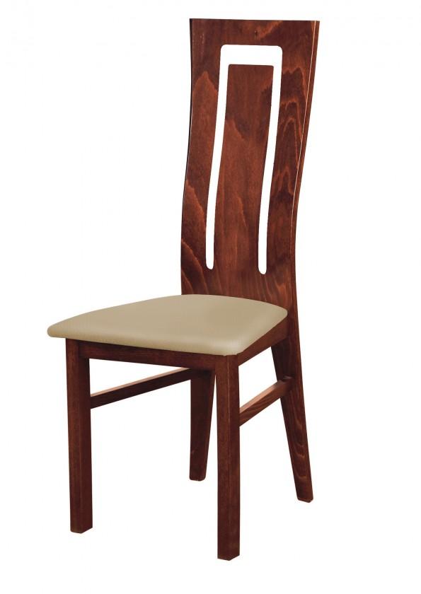 Stolička Andre II - jedálenská stolička (drevo - sołtysiak/poťah - syntetická koža)