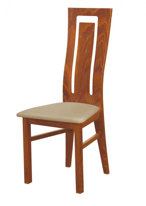 Stolička Andre II - jedálenská stolička (drevo - svetlý orech/poťah - syntetická koža)