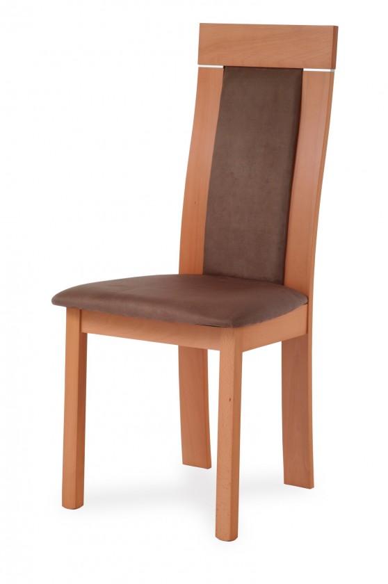 Stolička BASTEL(buk, morenie buk,poťah hnedý)