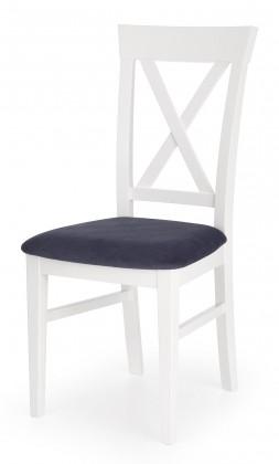 Stolička Bergamo - Jedálenská stolička (masívny buk biela, látka)