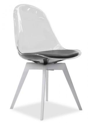 Stolička Bonni 9302-800+BESS 9317-001 (transparentní,biela)