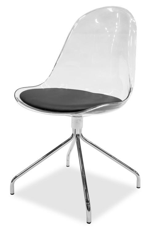 Stolička Bonni 9302-800+EGO 9319-091 (transparentní,chróm)