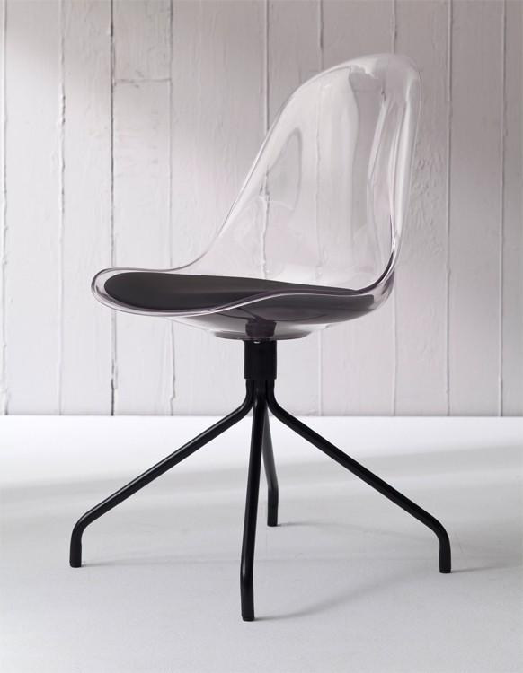 Stolička Bonni 9302-800+EGO 9319-824 (transparentní,čierna)