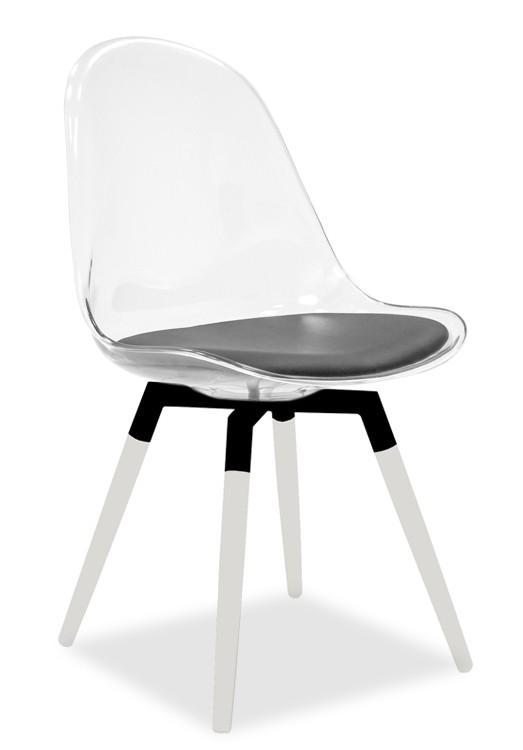 Stolička Bonni 9302-800+FIDO 9315-101 (transparentní,biela,čierna)