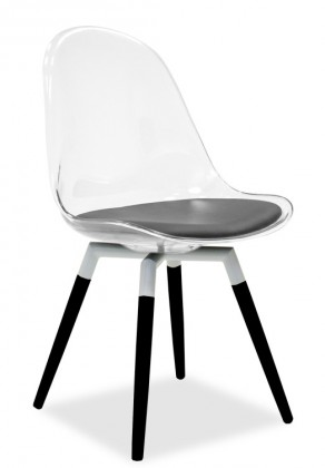 Stolička Bonni 9302-800+FIDO 9315-424 (transparentní,biela,čierna)