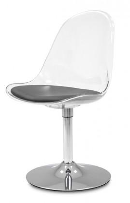 Stolička Bonni 9302-800+TRUMPET 9341-091 (transparentní,chróm)
