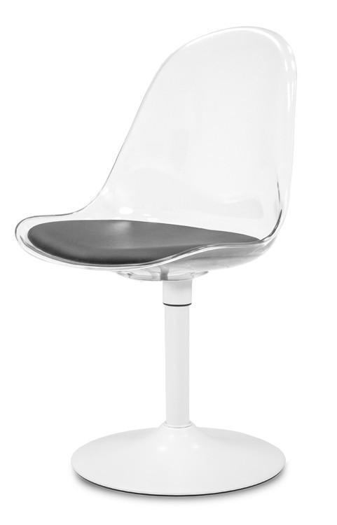 Stolička Bonni 9302-800+TRUMPET 9341-801 (transparentní,biela)