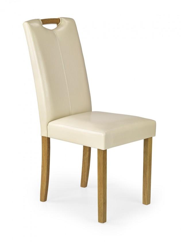 Stolička Caro - Jedálenská stolička (krémová, buk)