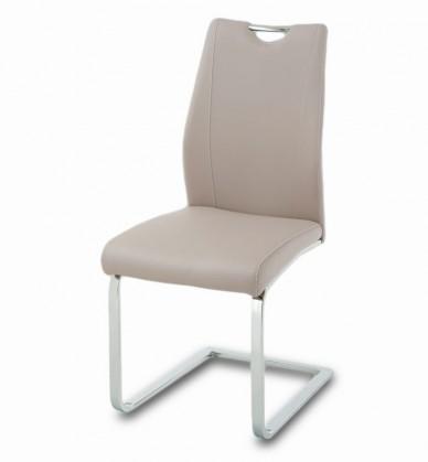 Stolička Carol(koženka hľuzovkové/chróm)