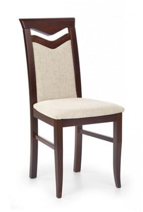 Stolička Citróny - Jedálenská stolička, buk (orech tmavý / poťah béžová)