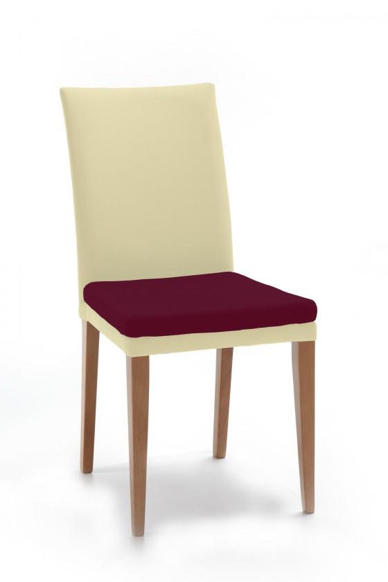 Stolička Crista (dub/látka carabu svetlo béžová/sedák fialová)