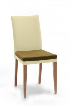 Stolička Crista (dub/látka carabu svetlo béžová/sedák hnedá)