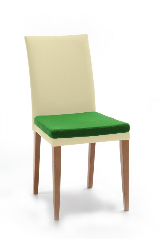 Stolička Crista (dub/látka carabu svetlo béžová/sedák zelená)