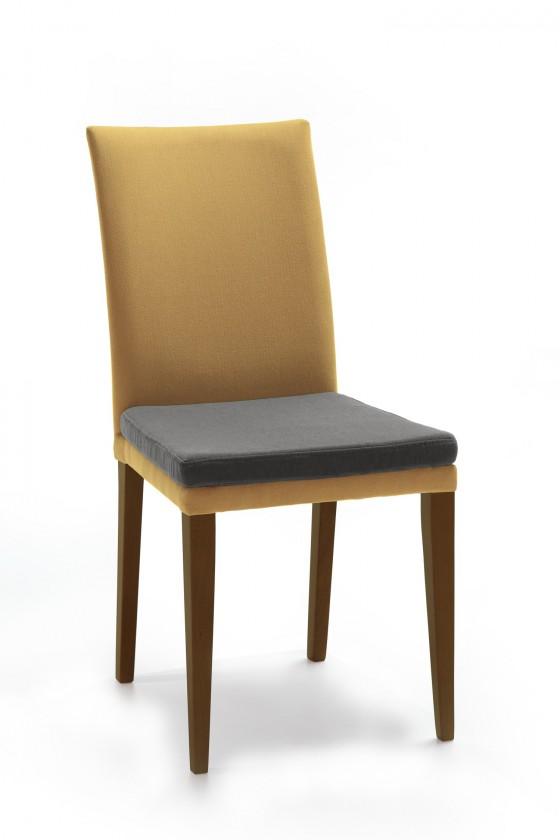 Stolička Crista (jasan/látka carabu svetle hnedá/sedák hnedá)