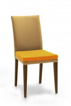 Stolička Crista (jasan/látka carabu svetle hnedá/sedák oranžová)