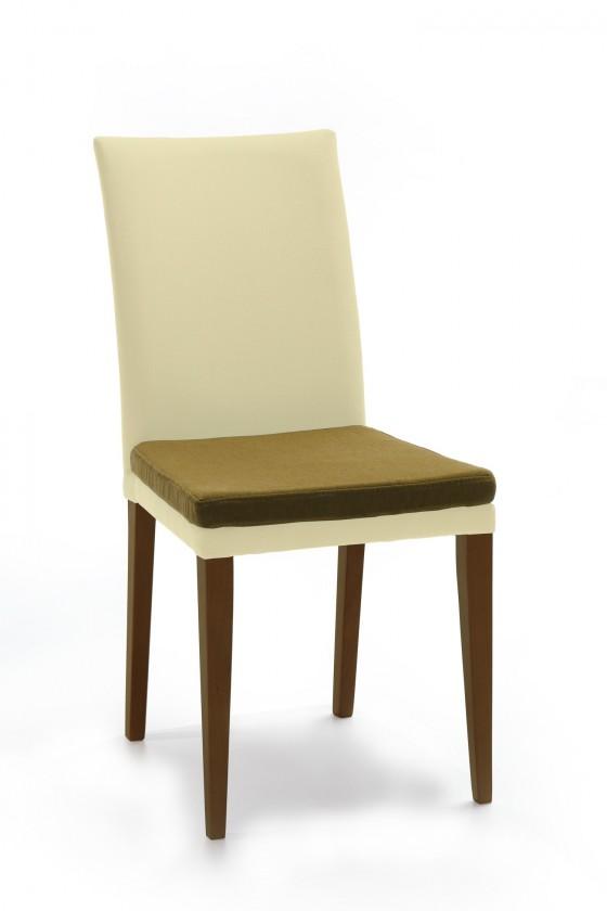 Stolička Crista (jasan/látka carabu svetlo béžová/sedák svetle hnedá)