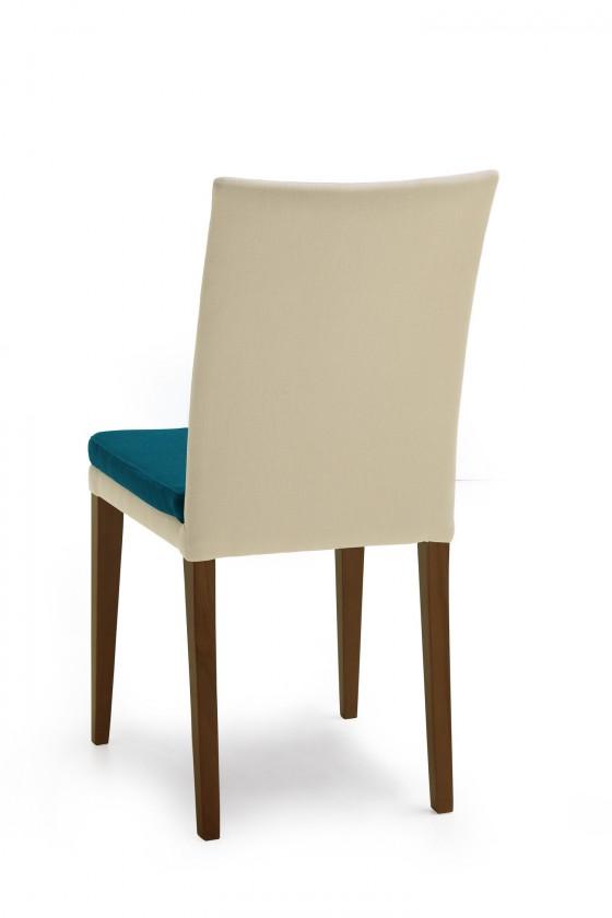 Stolička Crista (jasan/látka navara svetlo béžová/sedák petrolejová)