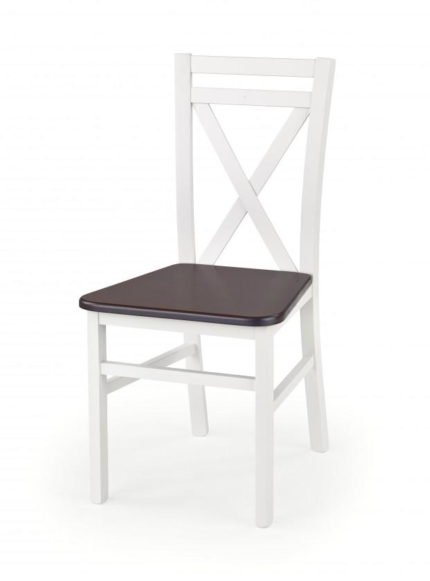 Stolička Dariusz 2 - Jedálenská stolička (biela, tmavý orech)