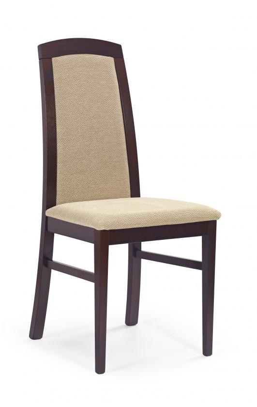 Stolička Dominik - jedálenská stolička (torent béžová, orech tmavý)