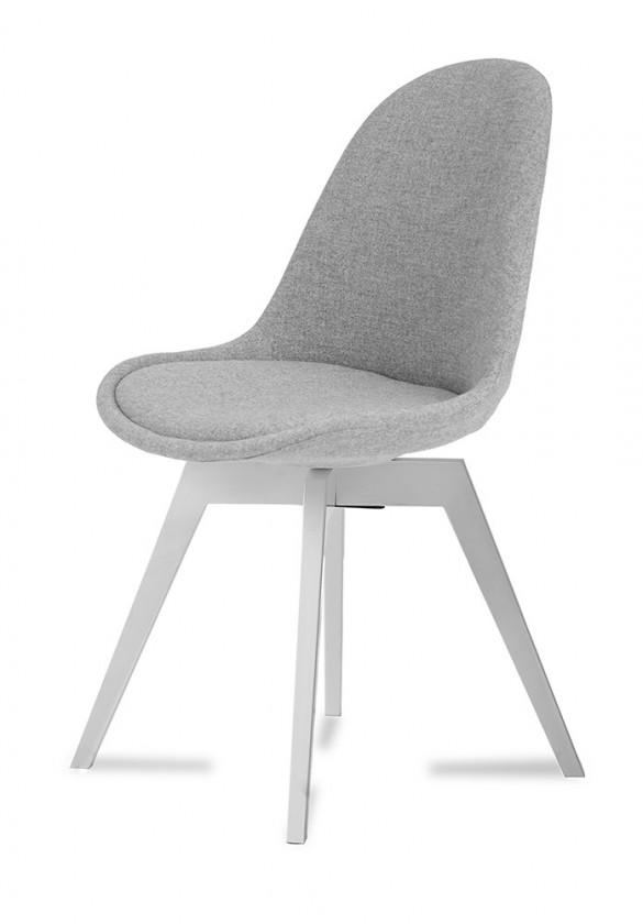 Stolička Donna Bess (sedák sivá / konštrukcia biela)