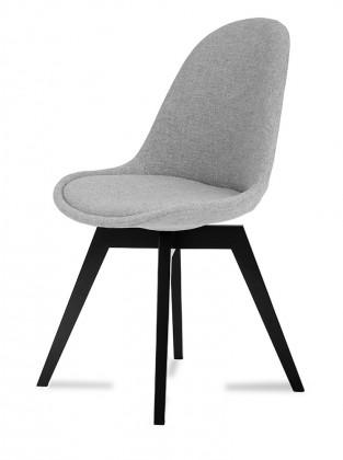 Stolička Donna Bess (sedák sivá / konštrukcia čierna)