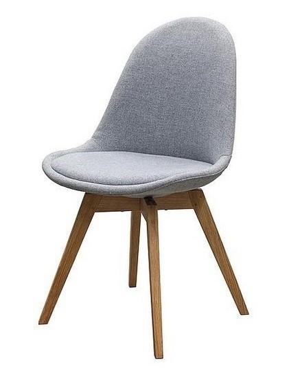 Stolička Donna Bess (sedák sivá / konštrukcia dub)
