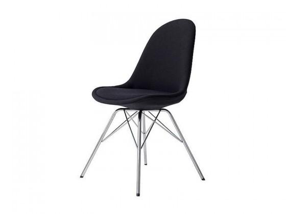 Stolička Donna Porgy (sedák čierna / konštrukcia chróm)