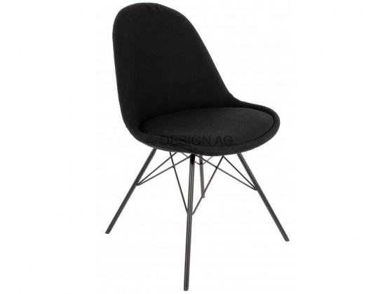 Stolička Donna Porgy (sedák čierna / konštrukcia čierna)
