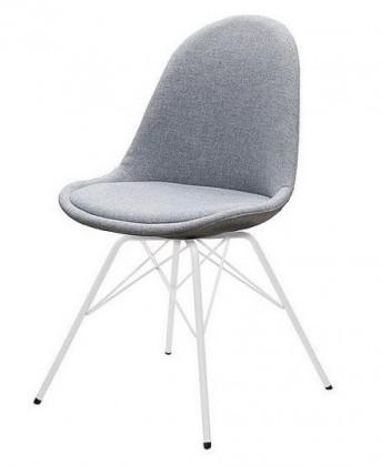 Stolička Donna Porgy (sedák sivá / konštrukcia biela)