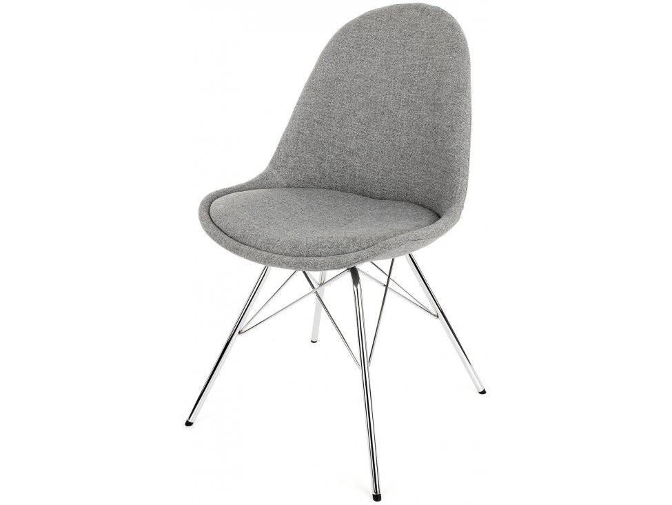 Stolička Donna Porgy (sedák sivá / konštrukcia chróm)