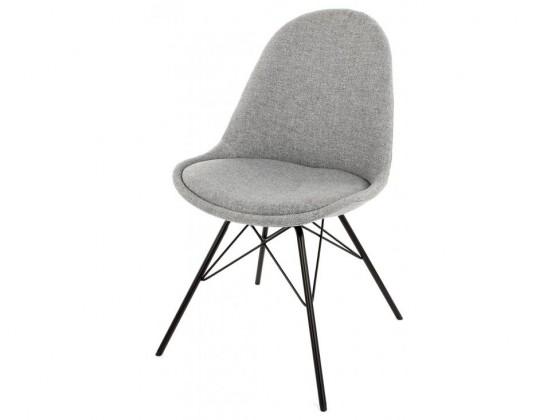 Stolička Donna Porgy (sedák sivá / konštrukcia čierna)