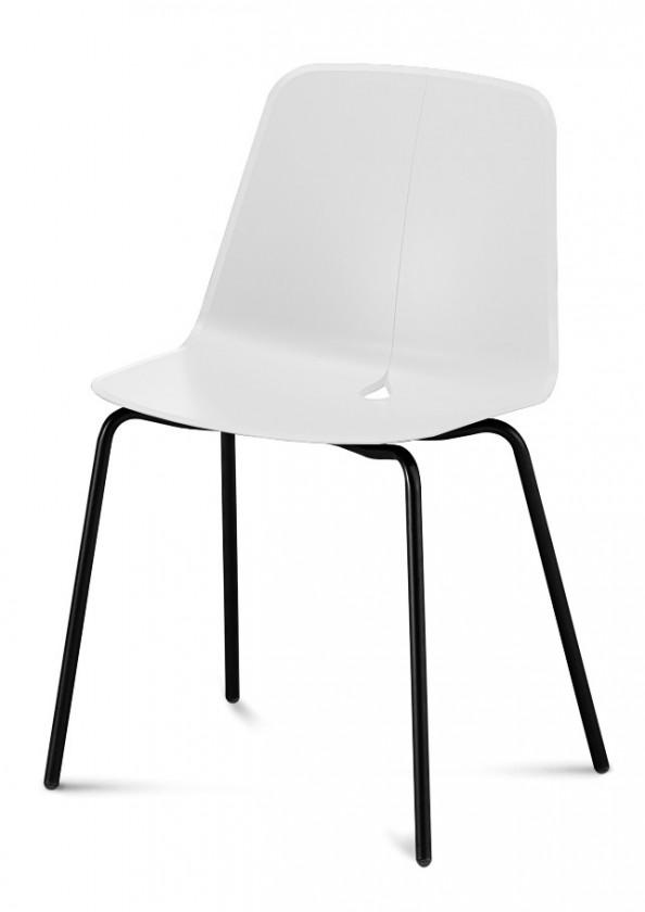 Stolička Dot-M - Jedálenská stolička (čierna, biela)